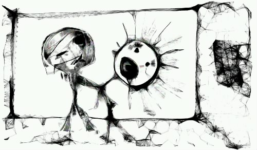 рисунок на планшете, графика, скетч, человечки, драка, убийство, skechers, рисунки карандашом, фото рисунки, мрачно, жестко, трагично, другой мир,